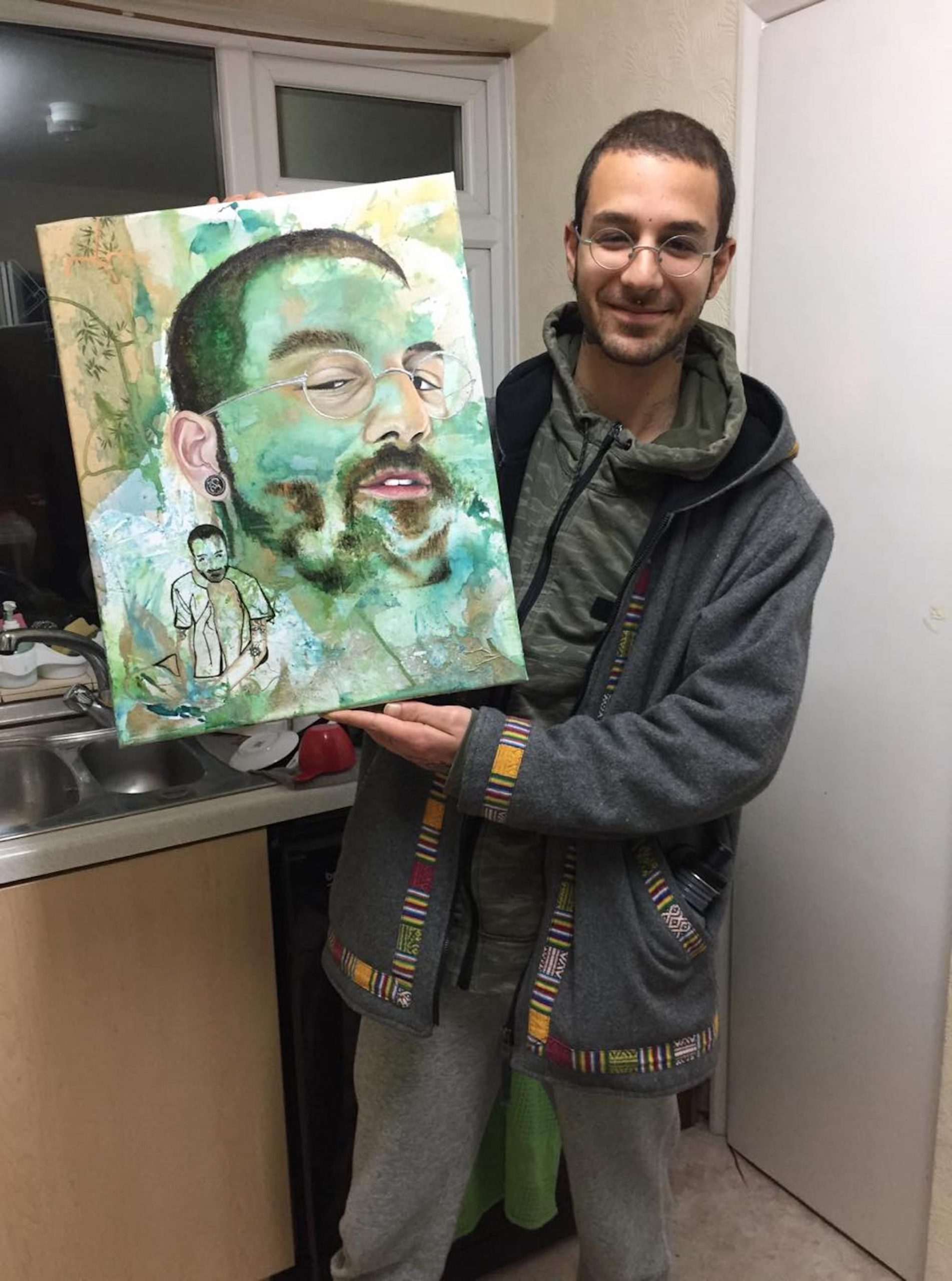 Demitris with painting 2