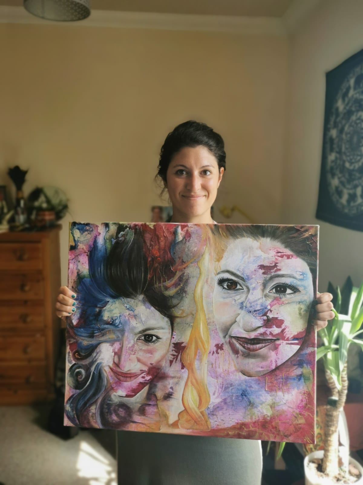 Marta with painting